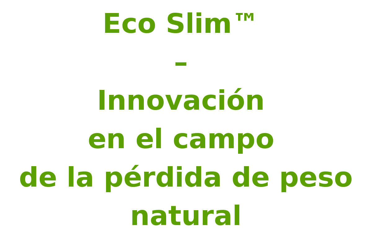 Eco slim producto dietary supplement