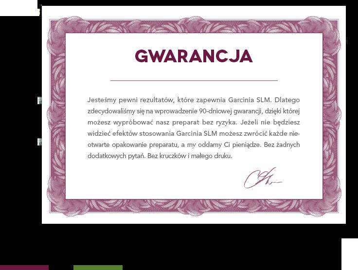gwarancja satysfakcji Garcinia SLM
