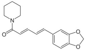 Piperyna - budowa chemiczna
