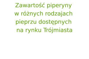 Zawartość piperyny w różnych rodzajach pieprzu dostępnych na rynku Trójmiasta