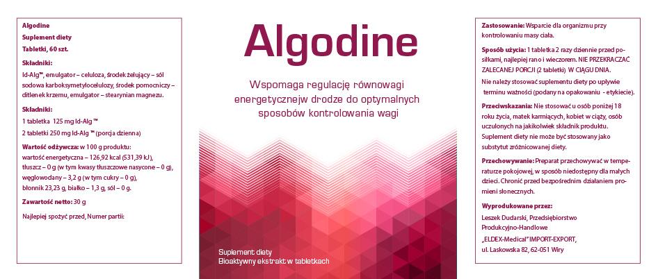 Algodine™ - etykieta