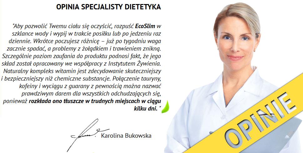 Eco Slim ™ - opinia specjalisty dietetyka