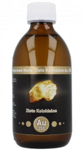 Niejonowe Nano Złoto Koloidalne AU 250 - 25 ppm 300 ml Vitacolloids