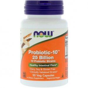 Now – Probiotic-10, 25 Miliardów, 50 Kapsułek Wegańskich