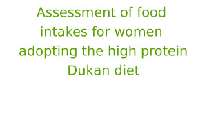 Assessment of food intakes for women adopting the high protein Dukan diet