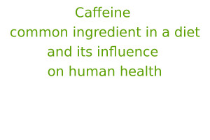 Caffeine – common ingredient in a diet and its influence on human health