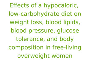 Effects of a hypocaloric, low-carbohydrate diet on weight loss, blood lipids, blood pressure, glucose tolerance, and body composition in free-living overweight women