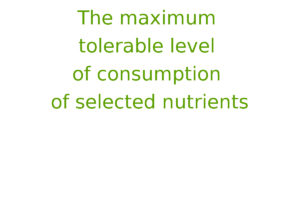 The maximum tolerable level of consumption of selected nutrients