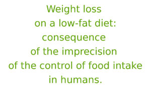 Weight loss on a low-fat diet: consequence of the imprecision of the control of food intake in humans
