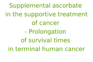 Supplemental ascorbate in the supportive treatment of cancer: Prolongation of survival times in terminal human cancer