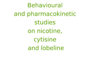 Behavioural and pharmacokinetic studies on nicotine, cytisine and lobeline