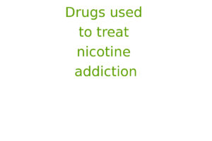 Drugs used to treat nicotine addiction