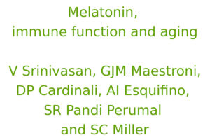 Melatonin, immune function and aging