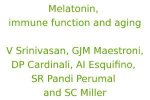 Melatonin, immune function and aging