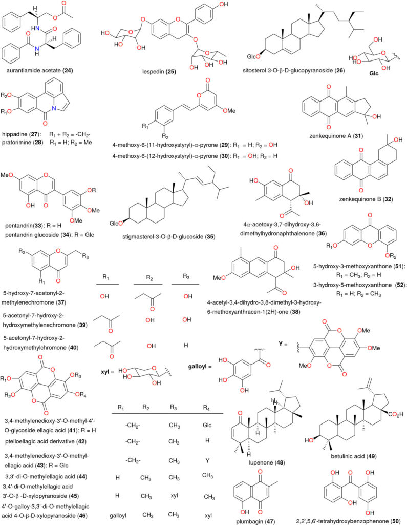 Chemical structures of bioactive metabolites I. Compounds 24 to 52.