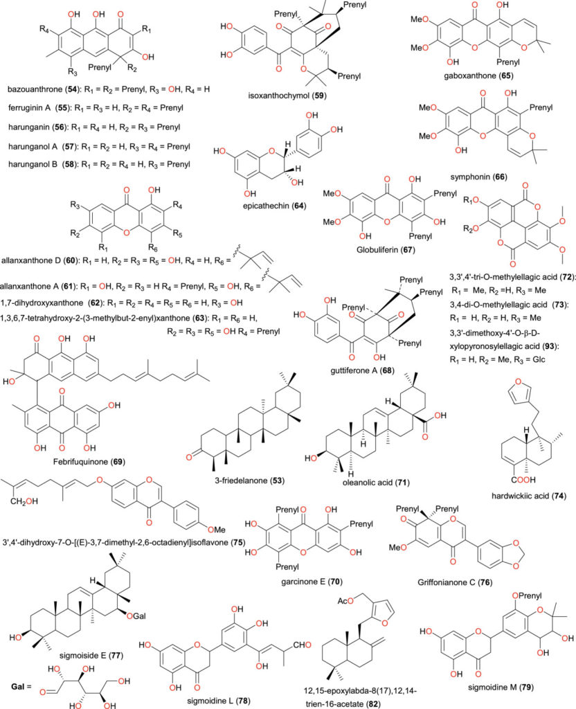 Chemical structures of bioactive metabolites II. Compounds 53 to 79, 82 and 93
