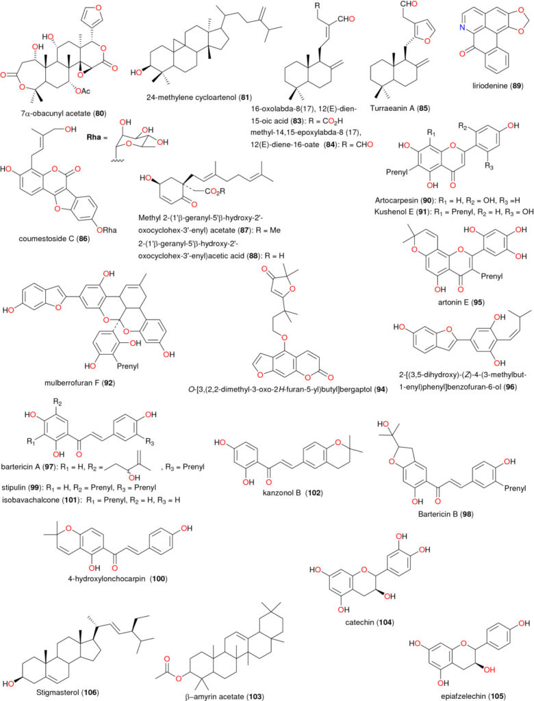 Chemical structures of bioactive metabolites III. Compounds 80, 81, and 83 to 106
