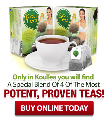 Only in KouTea™ You will find a special blend of 4 the most potent, proven Teas!