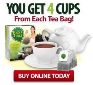 KouTea™ - You get 4 cups from each tea bag!