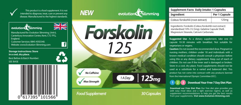 Forskolin125 ™ - Label
