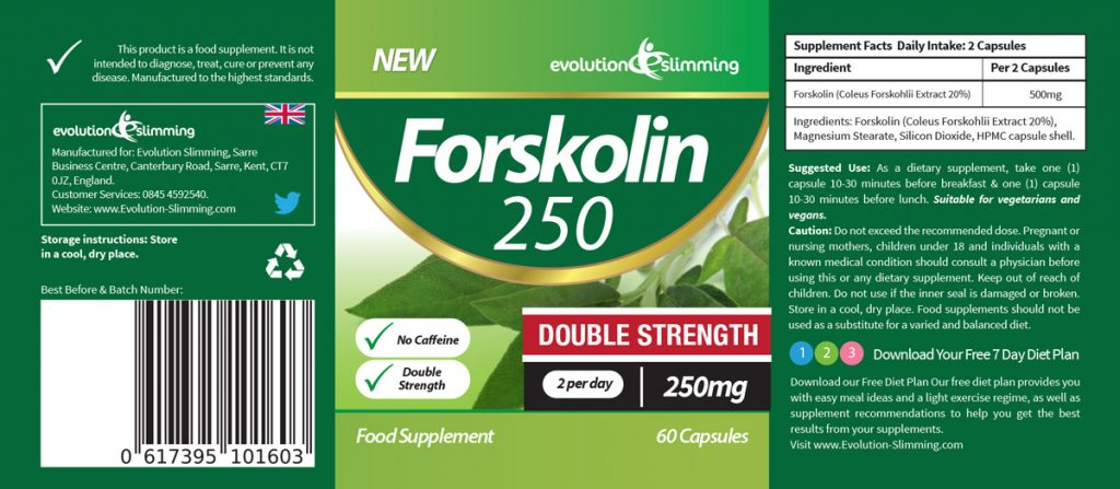 Forskolin250 ™ - Label