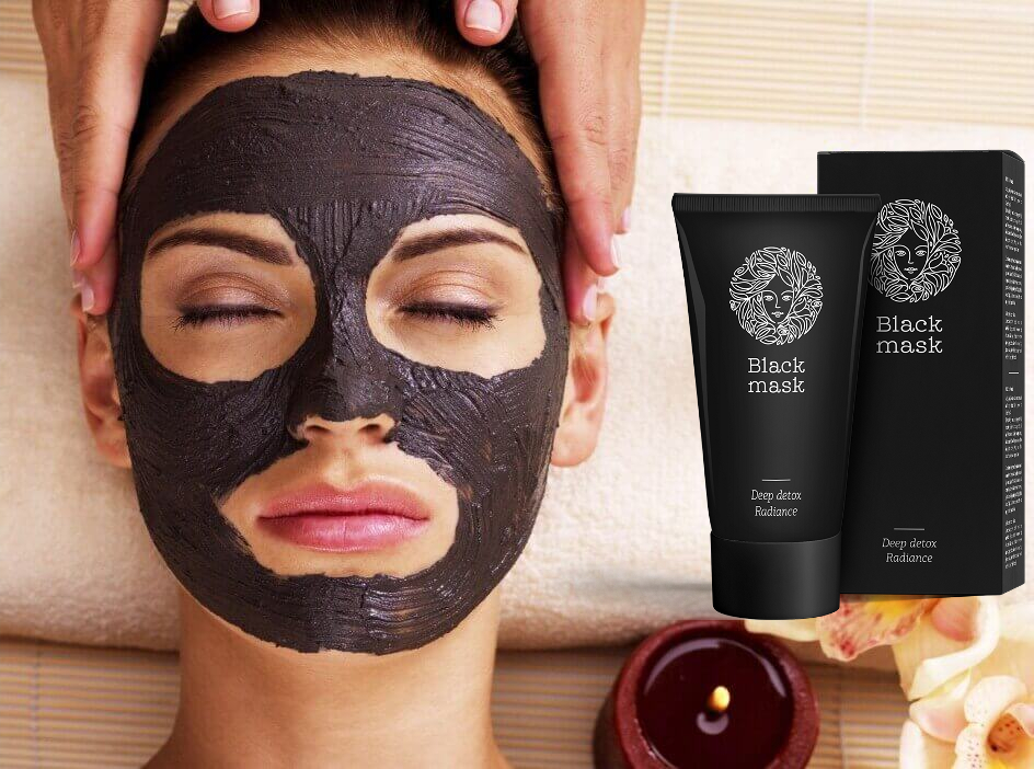 Using the anti-acne mask - Black Mask