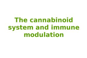 The cannabinoid system and immune modulation