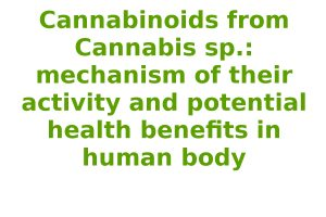 Cannabinoids from Cannabis sp.: mechanism of their activity and potential health benefits in human body
