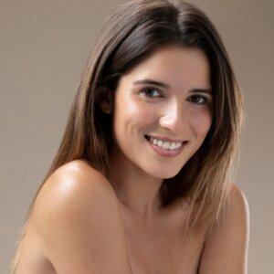 Beautiful natural, young woman